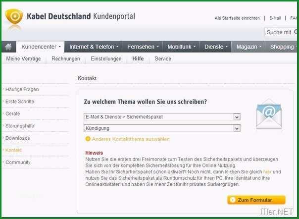 kundigung kabel deutschland vorlage