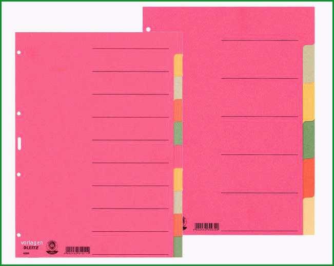 leitz register 1 10 vorlage kostenlos leitz register 1 10 vorlage design leitz register a4 fur ordner und