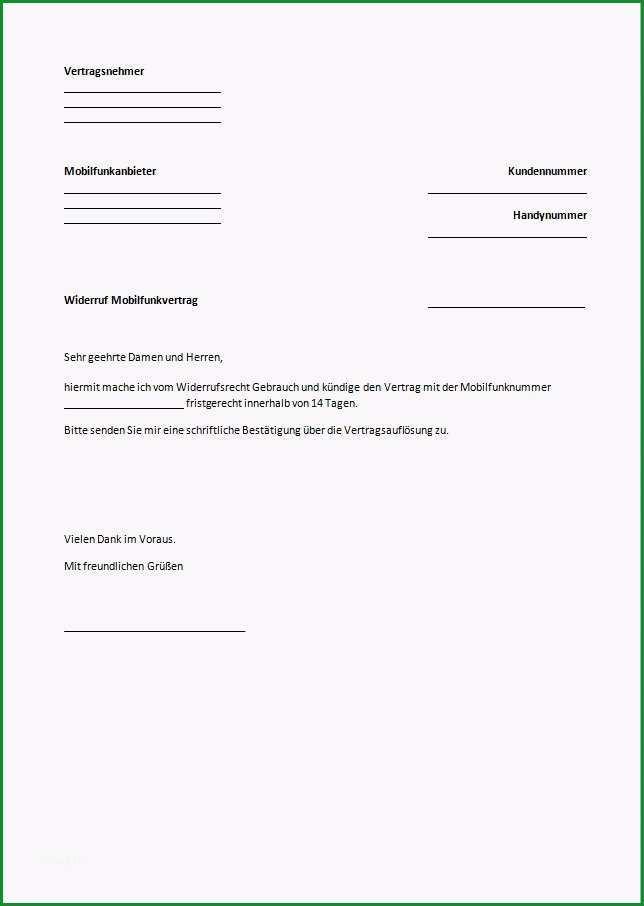 widerruf versicherung muster word